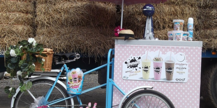 Milkshake Tricycle Mobile Food And Drink Carts